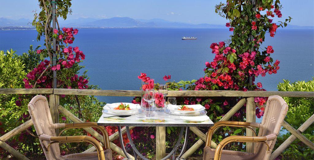 O del sol de la bella Costa Amalfitana
