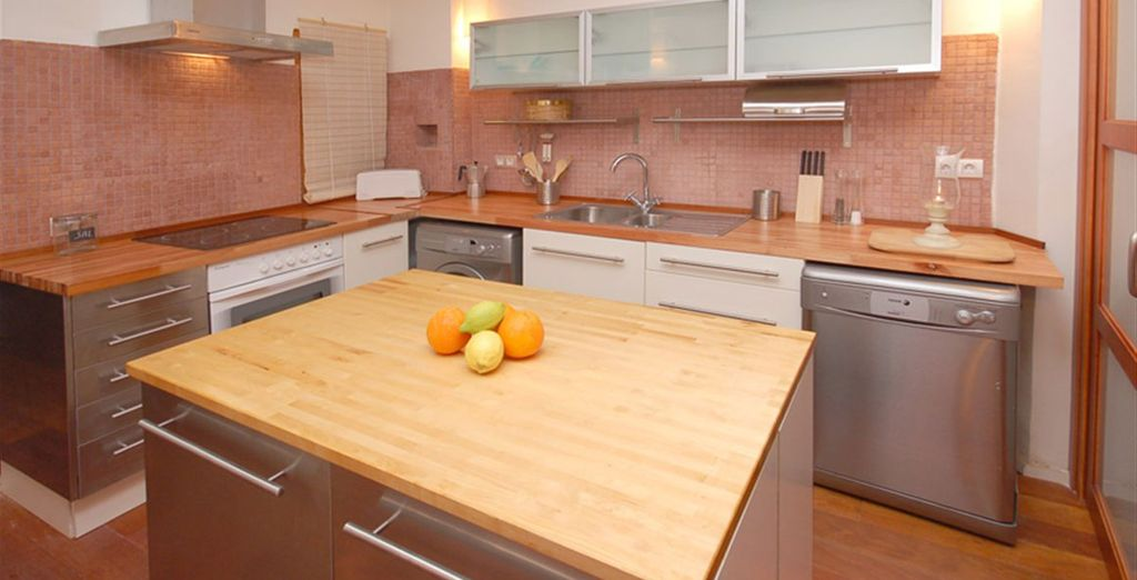 Apartamento 1:donde podrá cocinar a su gusto