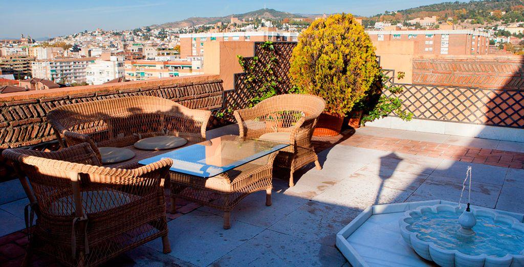Vistas a la ciudad de Granada desde el hotel
