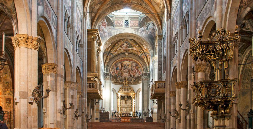No se pierda el interior de la Catedral de Parma