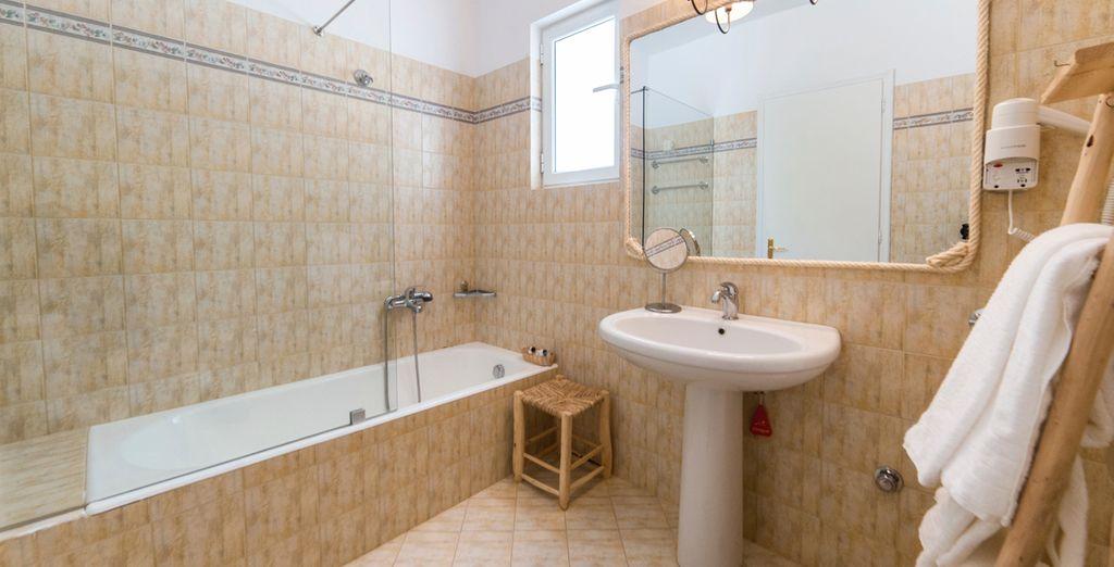 Baños equipados para su estancia
