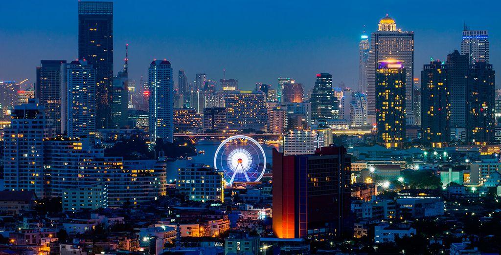 Comenzarás tu viaje en la capital tailandesa, Bangkok