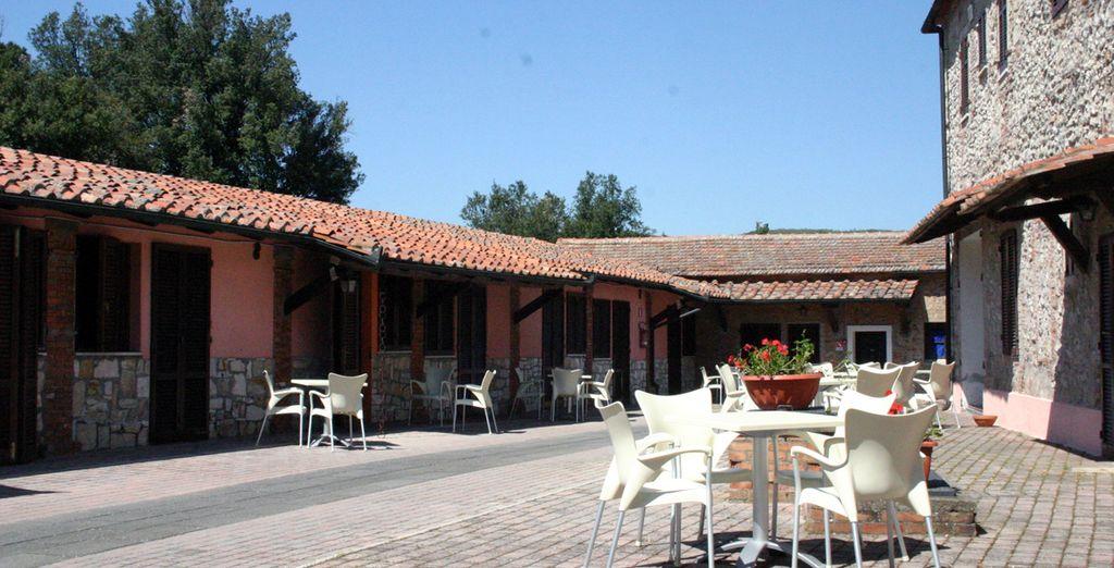 En el Resort Pian Dei Mucini respeta las tradiciones arquitectónicas de la zona