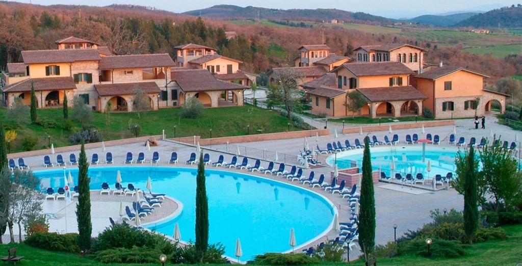 Un fantástico resort en la Toscana...