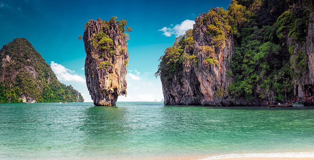Si escoges la extensión a la playa, podrás pasar 3 noches extras en las paradisíacas playas de Phuket
