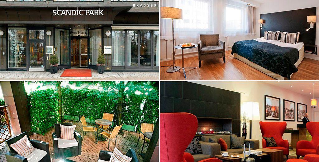 En Estocolmo te alojarás en el hotel Scandic Park 4*