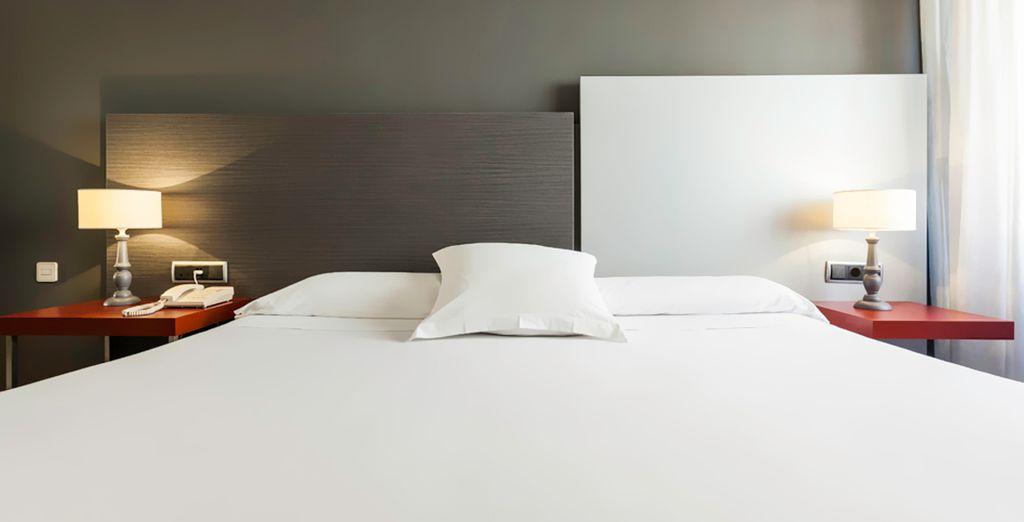 Una cama de grandes dimensiones porque descansar es lo más importante