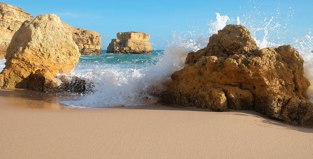 La playa de Sao Rafael es todo un espectáculo