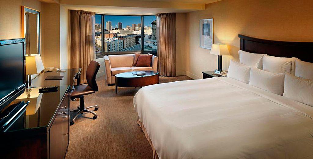 El Hotel Park 55 Wyndham está dotado de habitaciones donde el protagonista es el confort y el lujo