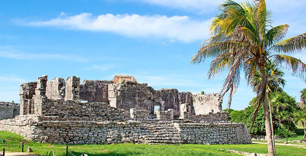 Las famosas ruinas mayas de Tulum