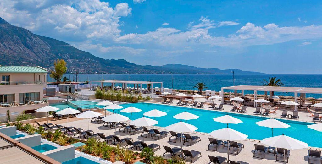 Horizonte Blu 5 * combina una excelente ubicación, diseño contemporáneo y servicios exquisitos