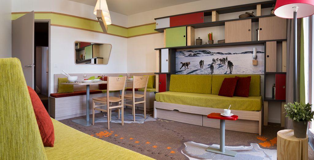 Alegres y coloridos apartamentos