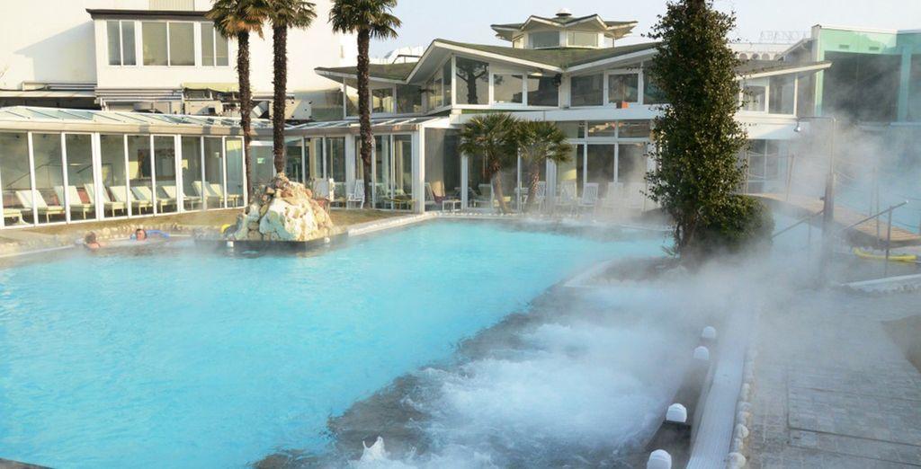 3 piscinas termales conectadas