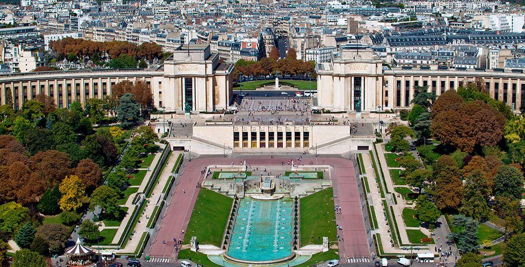 En el Trocadero encontrará lugares como Palais de Chaillot