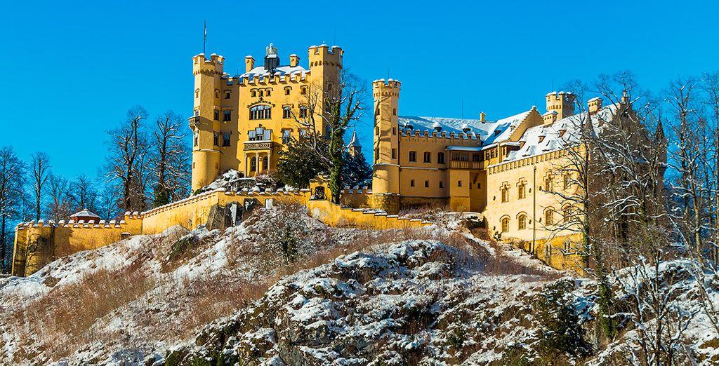 El segundo día visitarás el castillo de Hohenschwangau, un lugar mágico