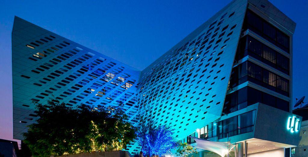 Un moderno hotel de diseño