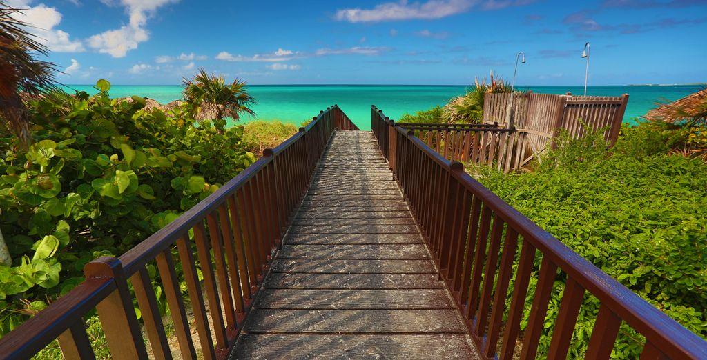 Con acceso a la playa
