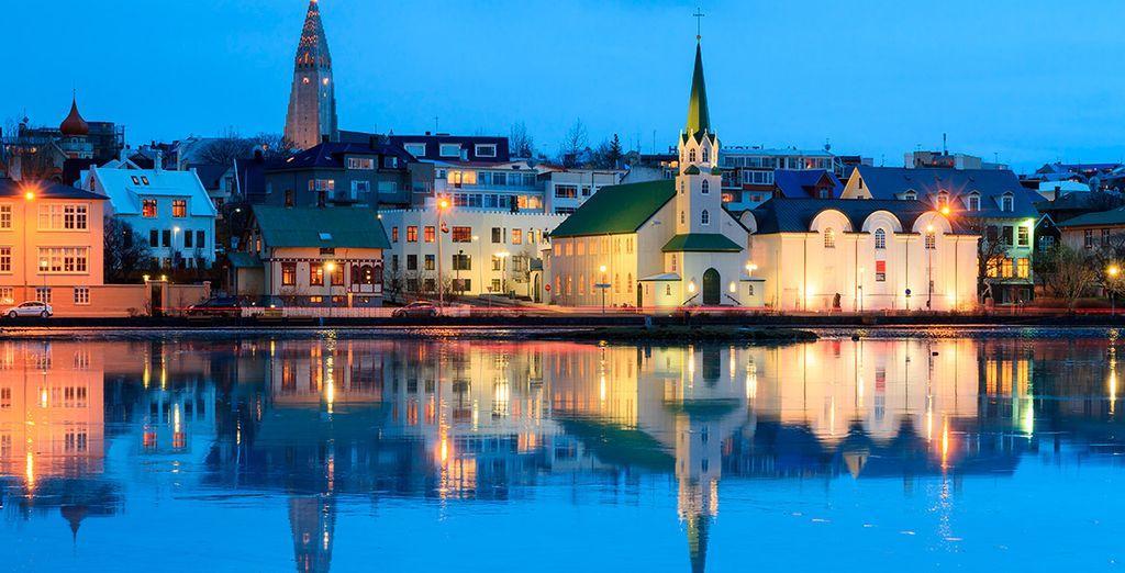 La encantadora ciudad de Reykjavik