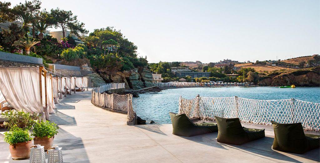 Un oasis de paz con playa privada