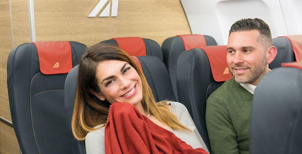 Alitalia destaca por la calidad del servicio, la asistencia a sus pasajeros, la formación de su personal...