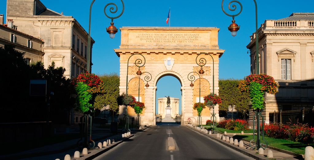Visite el famoso Arc de Triomphe