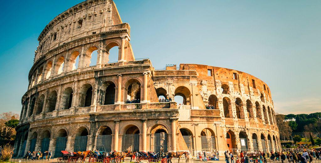Dese un emocionante paseo entre las maravillas de de la antigua Roma