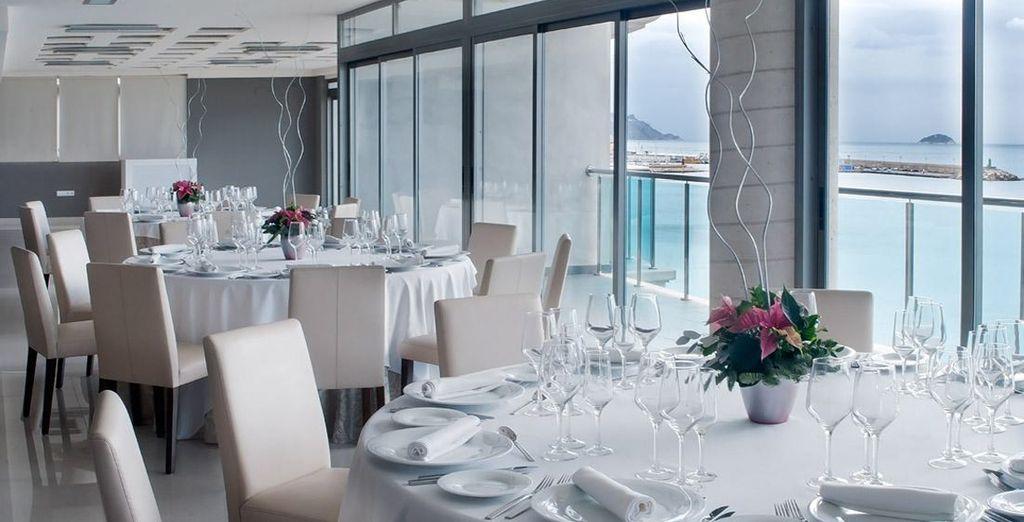 Desde el restaurante disfrutarás de unas vistas de lujo