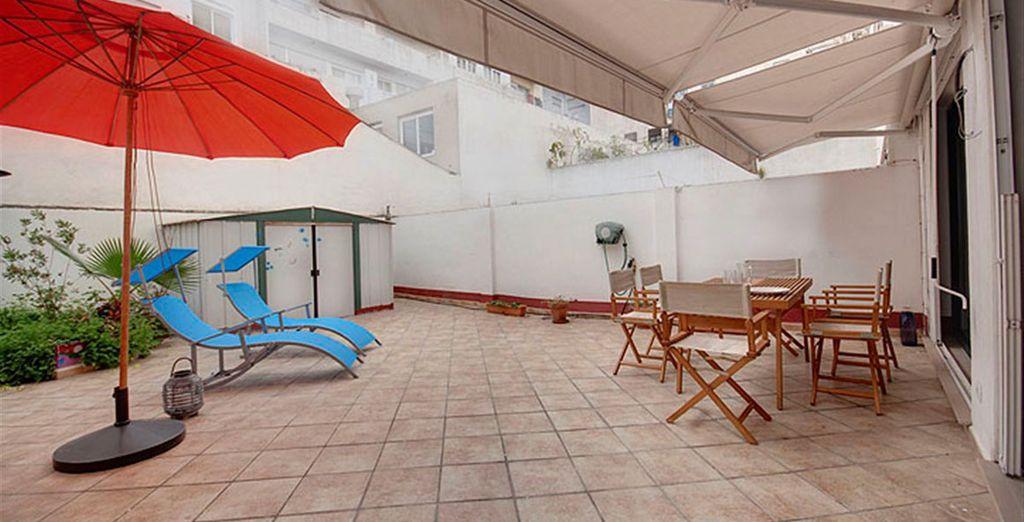 Apartamento 4: dispone de una gran terraza