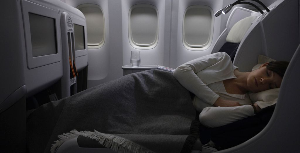 Los asientos de la clase Business se han diseñado para garantizarle una óptima comodidad