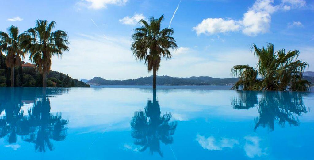 Jusqu'à la piscine panoramique