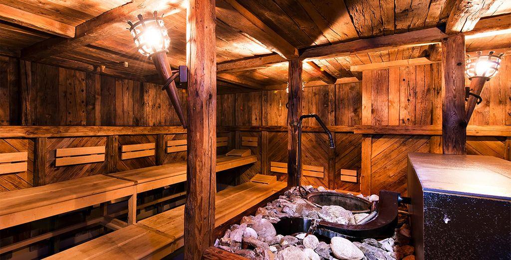 Et ses nombreux saunas