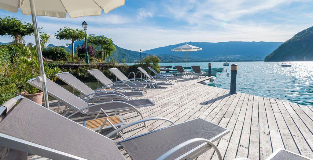 Hôtel haut de gamme avec espace détente, spa et restaurant gastronomique à Annecy