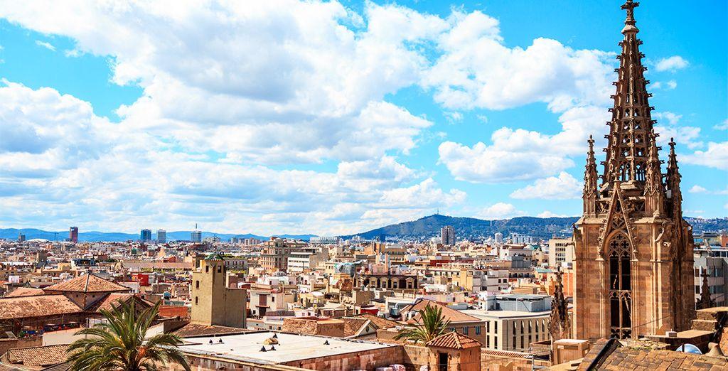 Photographie de la ville de Barcelone et ses monuments historiques