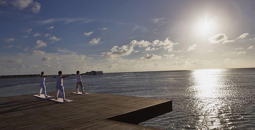 Ou profitez d'un cours de yoga en plein air
