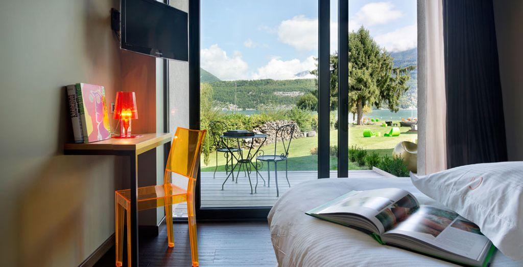 Hôtel de luxe 4 étoiles avec vue sur le lac d'Annecy