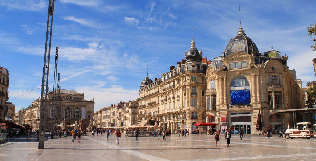 Et aux portes de Montpellier, où vous pourrez visiter sa célèbre Place de la Comédie