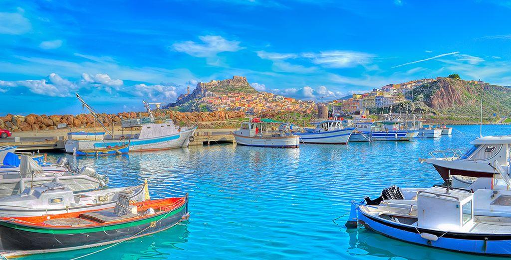 Villages et port coloré en Sardaigne