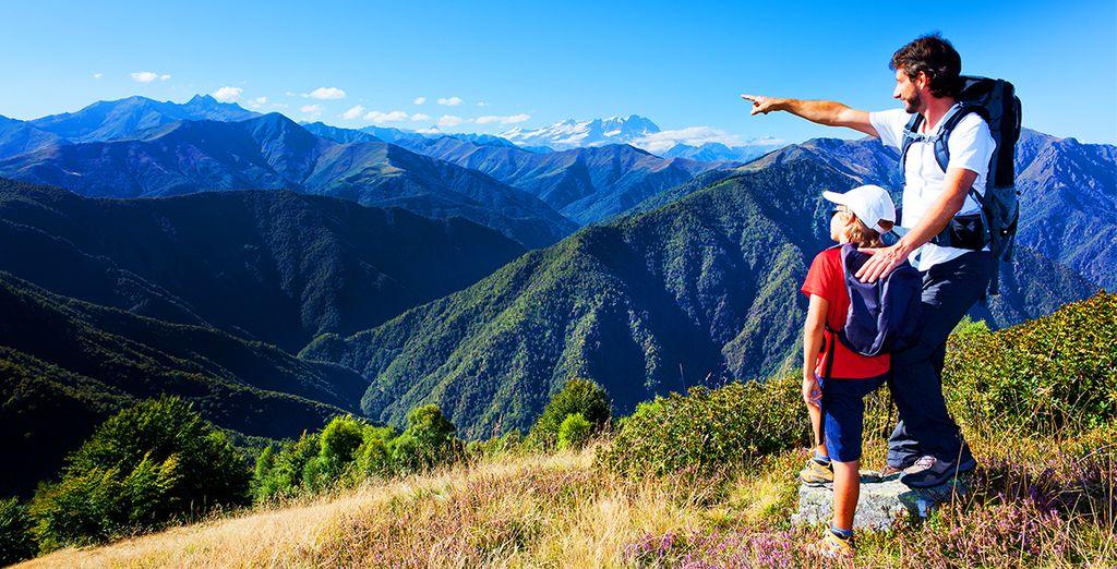 Et découvrir les paysages magnifiques des Alpes...