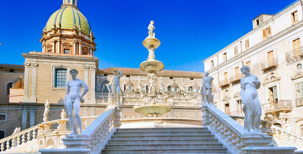 Visitez des villes comme Palerme...
