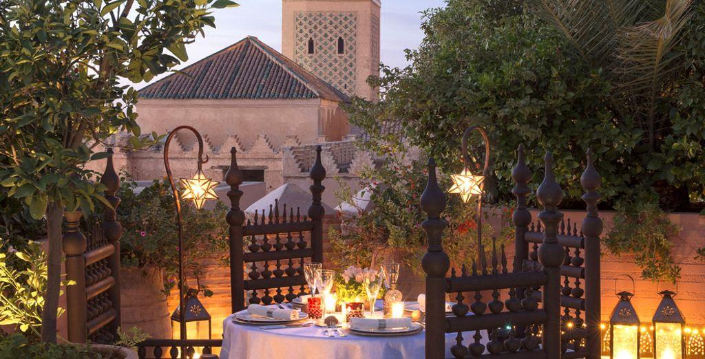 Lors d'un repas romantique