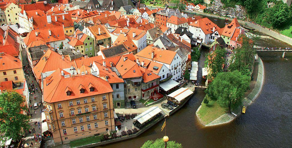 à Ceský Krumlov... véritable beauté médiévale