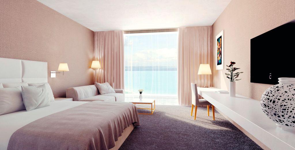 Hôtel de luxe 4* avec chambre tout confort avec vue sur la mer