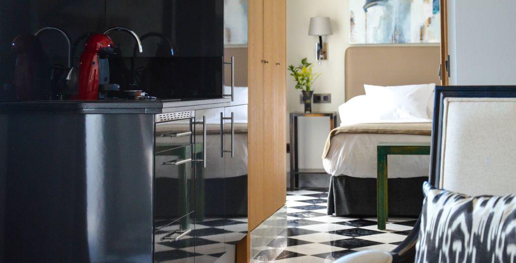 Choisissez votre hébergement idéal, entre une suite Standard