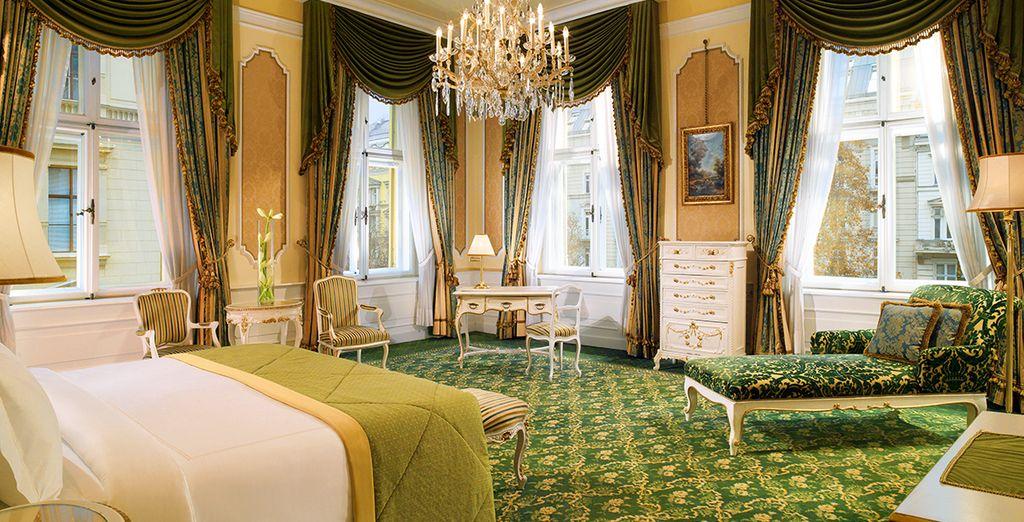 Le luxe est représenté dans toute sa splendeur dans la Junior Suite Imperial