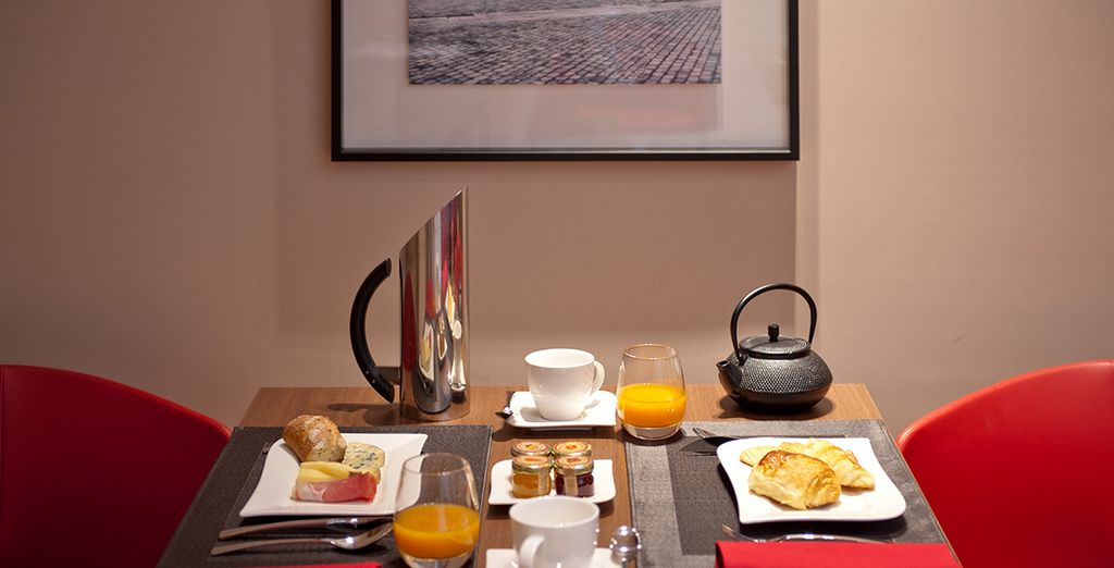 Le matin, vous dégusterez un agréable petit-déjeuner.