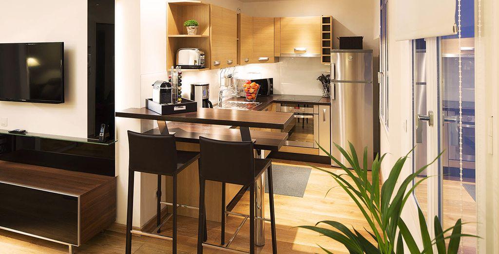 Et découvrez un appartement Classic à la décoration unique - Montmartre Résidence 4* Paris