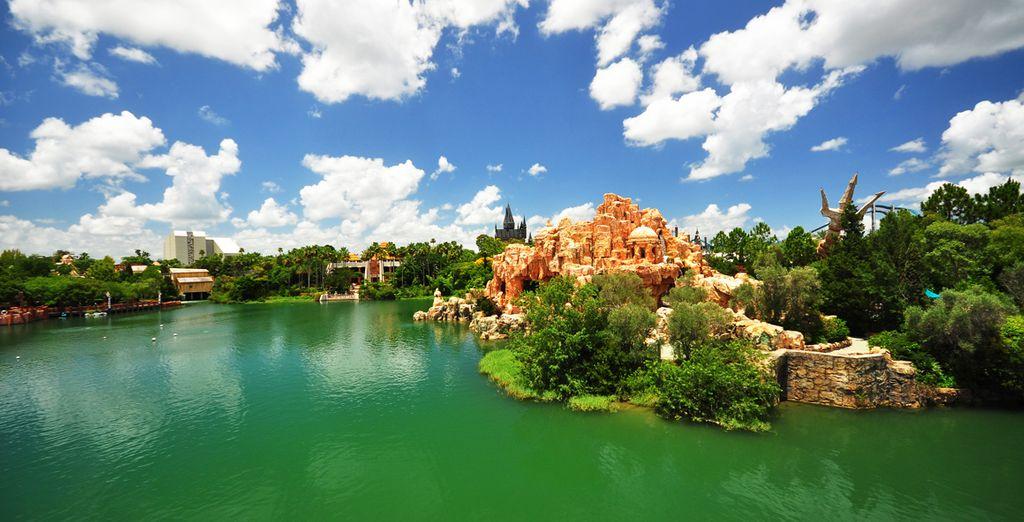 Photographie du parc d'attraction d'Universal Studio