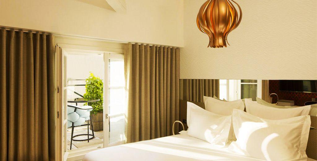 Chambre cosy, décoration élégante