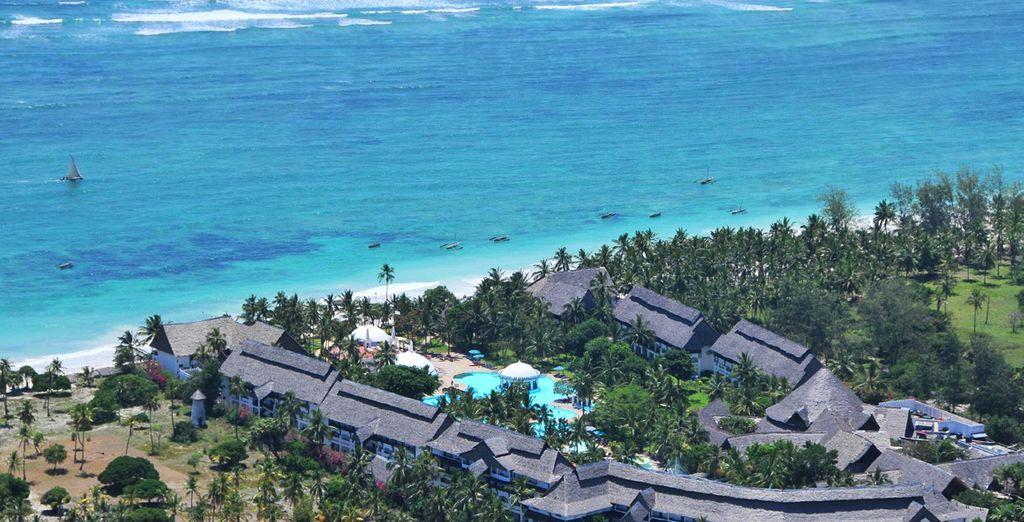 Un hôtel 4* situé au bord de la plage de Diani Beach