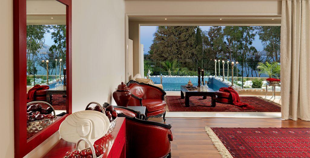 Posez vos valises en Junior Suite, avec piscine privée